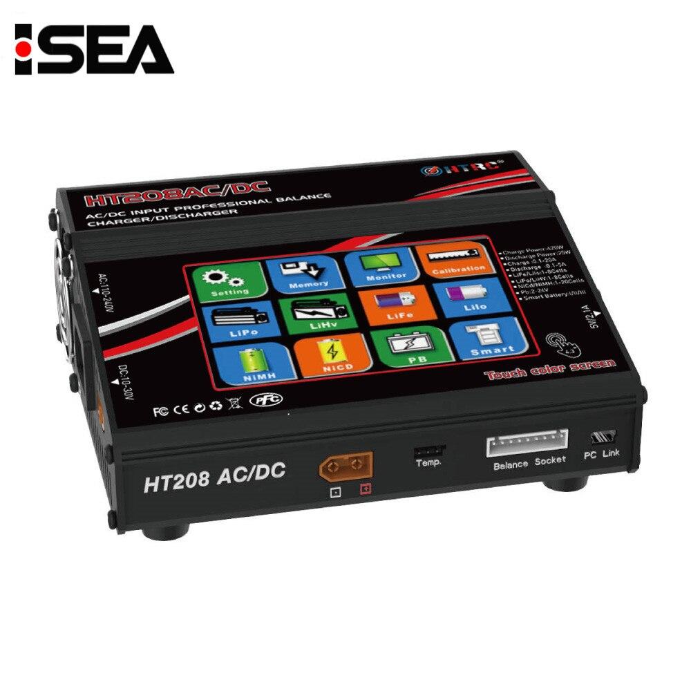 HTRC HT208 AC DC 420 w 20A LCD Tactile Écran Solde Chargeurs Déchargeurs pour 1-8 s Lilon LiPo vie LiHV Nicd NiM PB Batterie De Charge