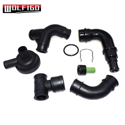 WOLFIGO New Engine Crankcase Breather Hose For VW Golf J-etta MK4 Audi A3 TT 1.8T 06A103247, 035103245A, 06A103213F, 058133785B