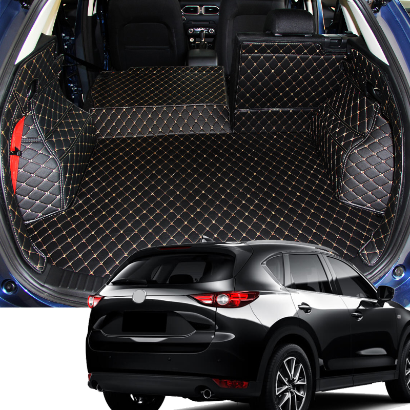 Car Interior Trunk Mat Cargo Liners Pad Cargo Mats Cover Accessories For Mazda CX-5 CX5 2nd Gen 2018 for mazda cx 5 cx5 2017 2018 kf 2nd gen car co pilot copilot stroage glove box handle frame cover stickers car styling