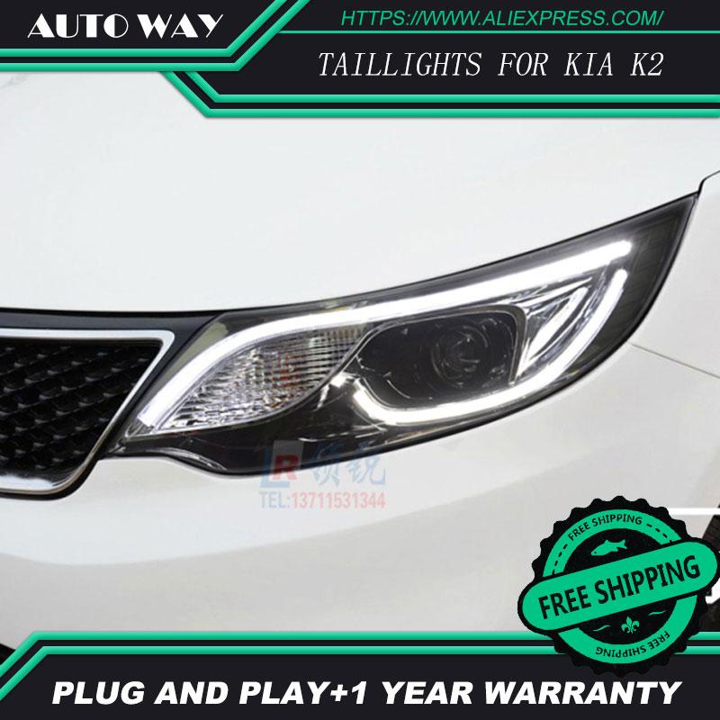 Free shipping Car styling LED HID Rio LED headlights Head Lamp case for KIA Rio K2