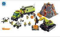 Model Building Kits Compatible With Lepins City 60124 Operations Center Truck Excavator Dumper Brick Model Building
