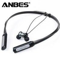 ANBES Kablosuz Bluetooth 4.1 Kulaklık Boyun Halter Stil Kulaklık Kulaklık iphone için Eller Serbest Arama