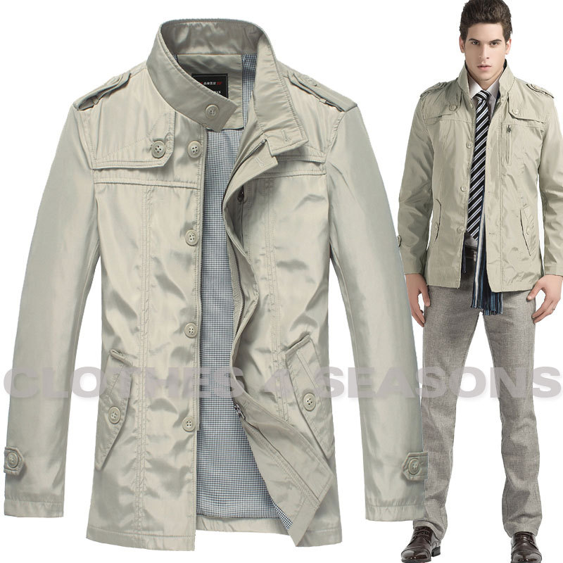 Mens Military Jacket Lightweight Waterproof Utility Coat Casual ...