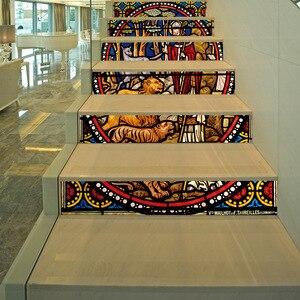 Image 5 - 宗教backsplashのタイルステッカーdiyタイルデカールメキシコ伝統防水スティック家の装飾階段デカール階段壁画d