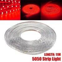 Smuxi 60 LED 220 V Étanche LED Bande 5050 SMD 60Led/m Flexible LED Lumière Rouge Décoration Lumière ruban Ruban