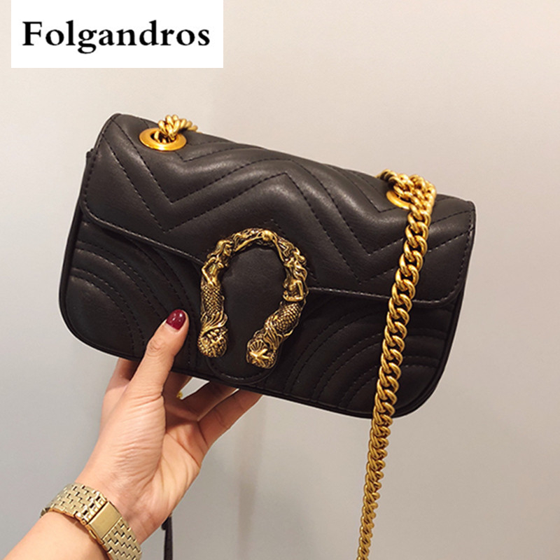 Fashion Chain Casual Shoulder Bags Messenger Bags Retro Lingge Women Bag\Handbag Ladies' Flap Motorcycle Bag Female Clutch Purse fashion new design pu leather lotus wave female chain purse shoulder bag handbag ladies crossbody messenger bag women s flap