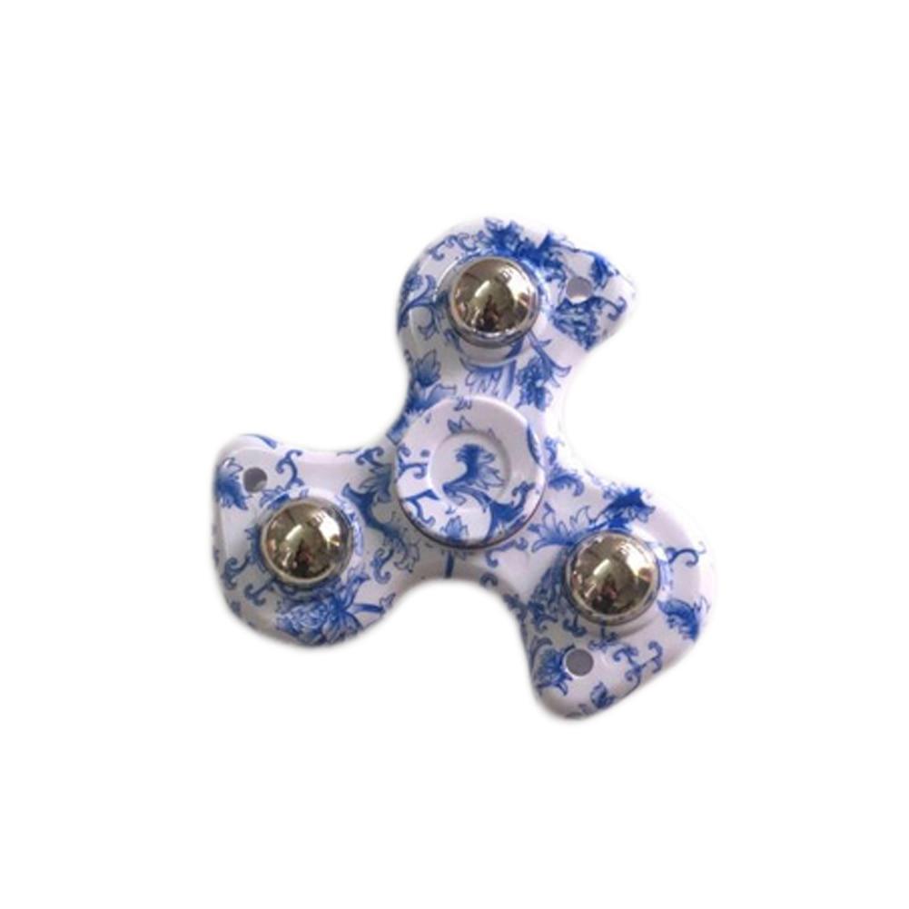 Spinner Fingertip Gyro Blue And White Porcelain Gyro Toys Fidget Spinner Stress Relief Toys