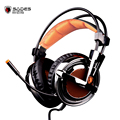 Sades A6S Vibration 7.1 Surround Sound Professional Gaming Headset USB Wired Mic Over-Ear Headphones for Siberia V2 PC Gamer