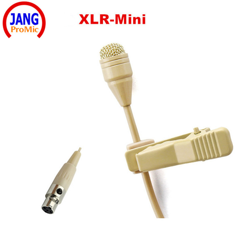 Wholesale 5 pics Beige Mini Lavalier Condenser Microphone Conference Microfone for Shure Wireless Transmitter XLR Mini Mikrofon  professional lapel music instrument microfone double bass microphone lapeal for shure wireless system xlr mini microphones