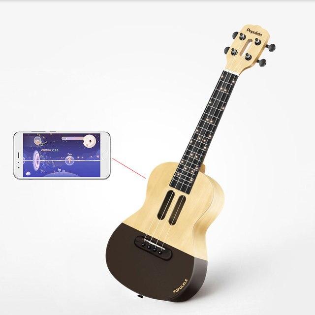 U1 ukelele de 23 pulgadas con 4 cuerdas, guitarra eléctrica acústica inteligente con aplicación Xiaomi, IOS, Android, hawaiana