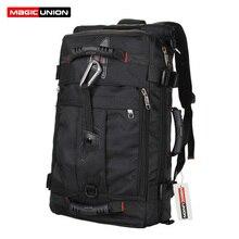 Magic union marca de diseño para hombres bolsas hombres de la moda mochilas de viaje mochila multiusos del recorrido de los hombres de hombro de múltiples funciones