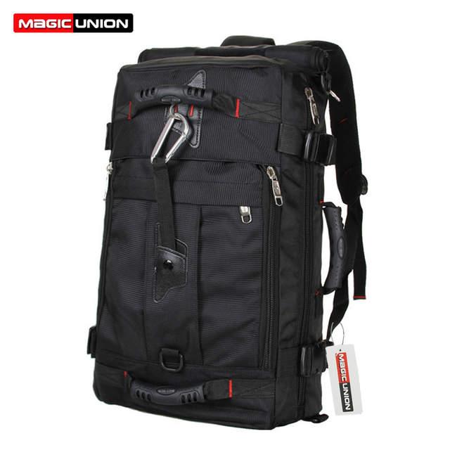 Online Shop MAGIC UNION Brand Design Men s Travel Bags Fashion Men Backpacks  Men s Multi-purpose Travel Backpack Multifunction Shoulder Bag  b4834acdde327