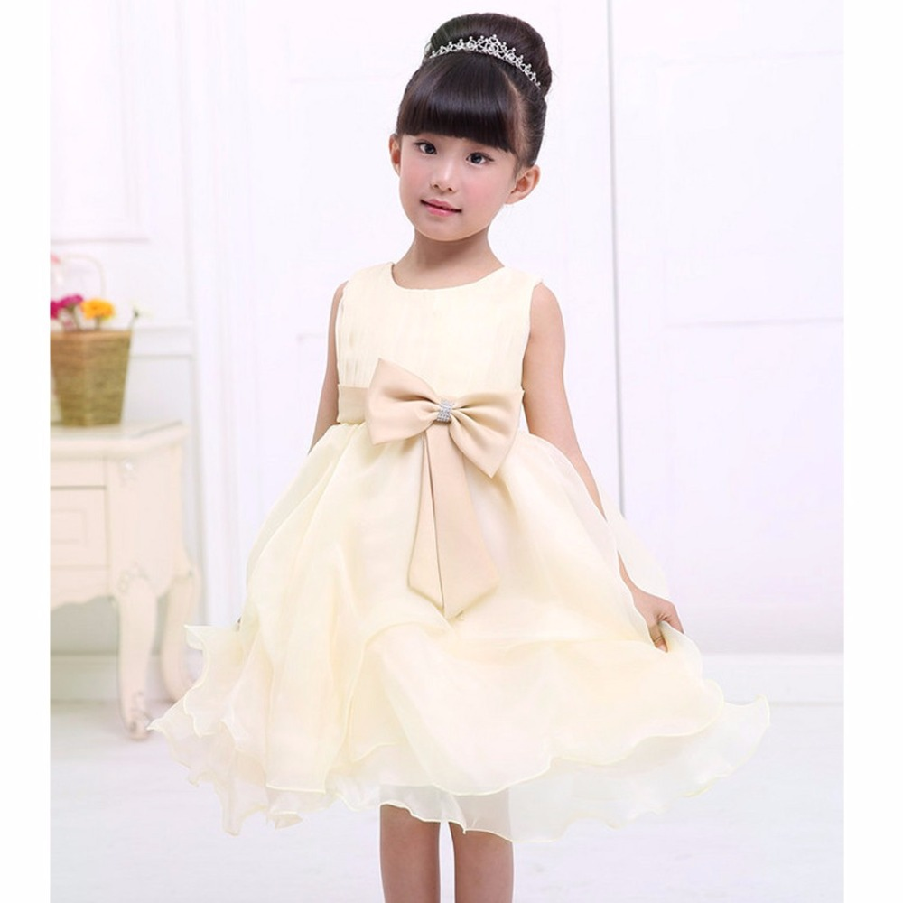 Compare prices on big bridesmaid online shoppingbuy low price iefiel kids baby girls big bow princess pageant formal dress wedding bridesmaid flower girl birthday party ombrellifo Gallery