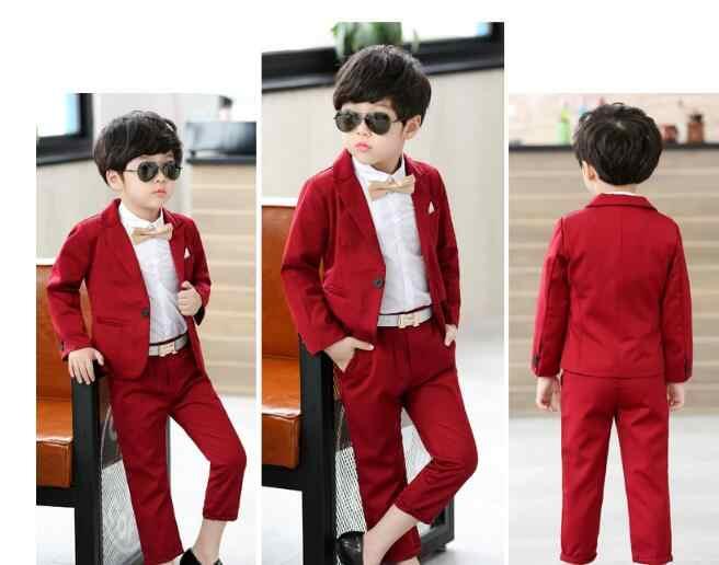 84dfec5f47c79 ... Winter new Boys Suit Jackets autumn Spring Cotton Coat Pants Tie 3  Piece Kids Suits Boy