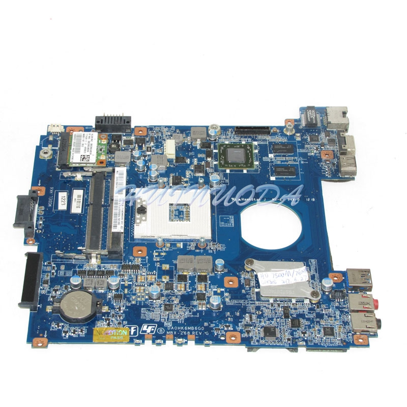 NOKOTION A1876092A DA0HK6MB6G0 MBX-268 Laptop Motherboard For SONY Vaio SVE14 HD4000 HD7600M Main board DDR3 full works a1843425a motherboard for sony vaio vpcel2 vpcel22fx laptop motherboard 48 4ms01 011 mbx 252 e450 cpu ddr3