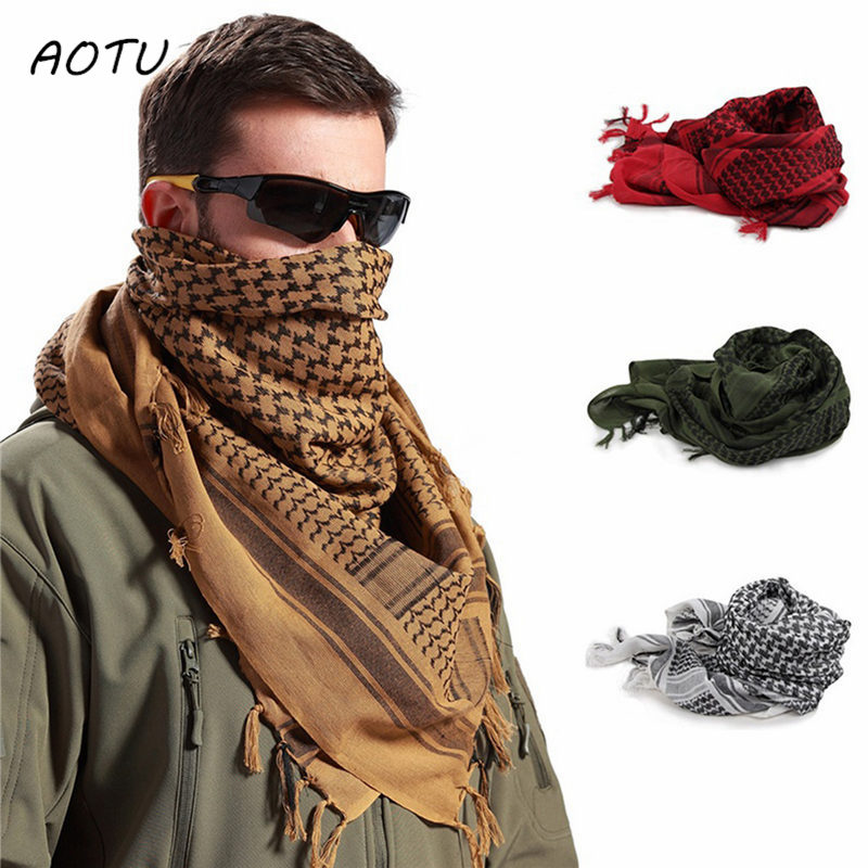 Winter Military Tactical Camouflage Scarf Headband Mesh Scarf Outdoor Camping Hiking Men Arabian Battlefield Scarf Neck Wrap