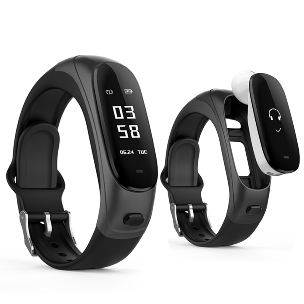 ZUCOOR Bluetooth Headphone Smart Bracelet Pressure Wearable Devices Pulse Monitor Pedometer Heart Rate Headset Wristband For Men smart band bracelet health wristband s3 pedometer blood pressure wearable devices pulse monitor electronics bracelets for men