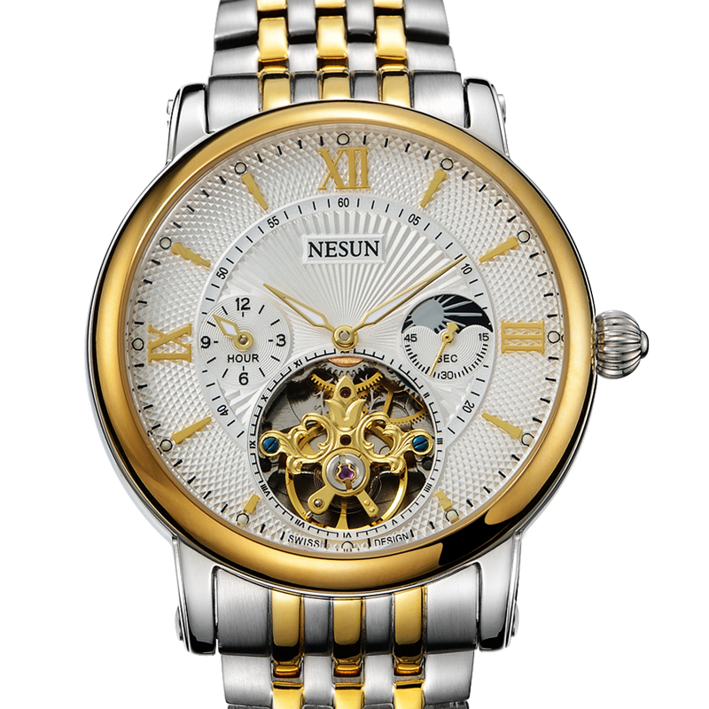 Switzerland Nesun Hollow Tourbillon Watch Men Luxury Brand Automatic Mechanical Mens Watches Sapphire Waterproof clock N9091-5Switzerland Nesun Hollow Tourbillon Watch Men Luxury Brand Automatic Mechanical Mens Watches Sapphire Waterproof clock N9091-5