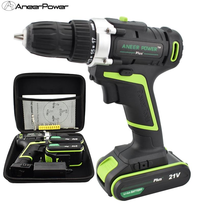 21 v Plus Hand Bohrer Batterie Batterien Elektrische Schraubendreher Power Werkzeuge Mini Bohren Akkuschrauber Elektrische Bohrer Mini