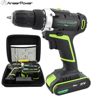 21v Plus Hand Drill Battery Batteries Electric Screwdriver Power Tools Mini Drilling Cordless Screwdriver Electric Drill Mini
