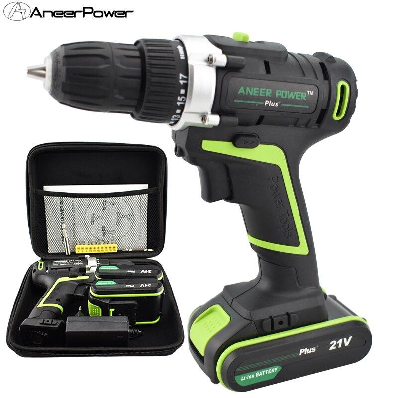 21v Plus perceuse à main batterie Batteries tournevis électrique outils électriques Mini perçage tournevis sans fil perceuse électrique Mini