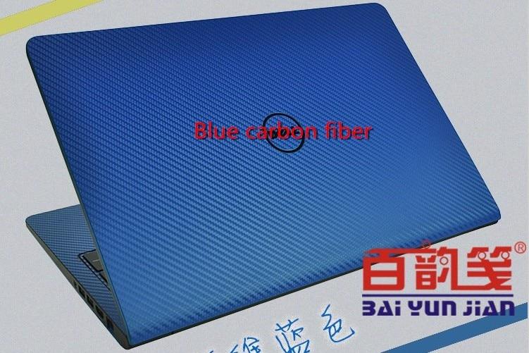 Специальные виниловые наклейки для ноутбука из углеродного волокна для ASUS G75 G75VW G75VX 17,3 дюйма - Цвет: Blue Carbon fiber