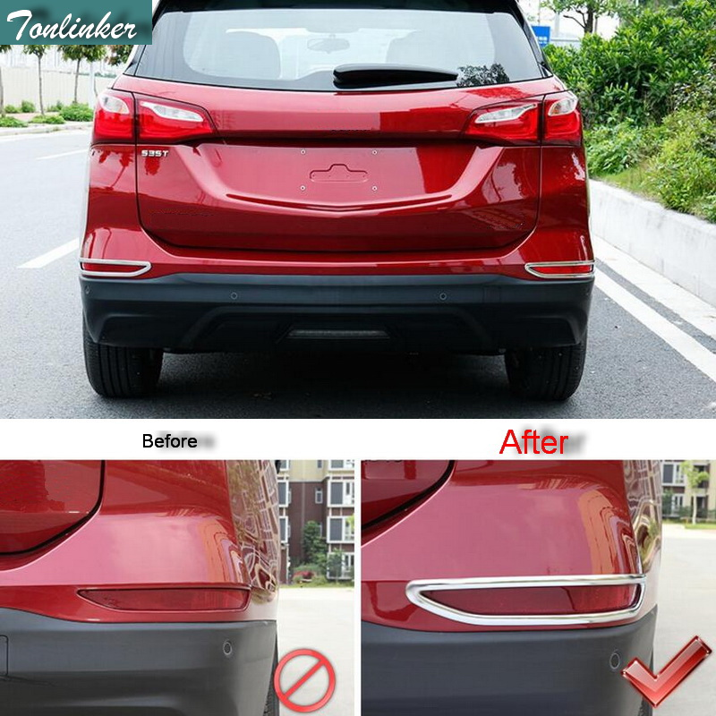 Tonlinker Cover Case Stickers for Chevrolet Equinox 2017 font b Car b font Styling 2 PCS