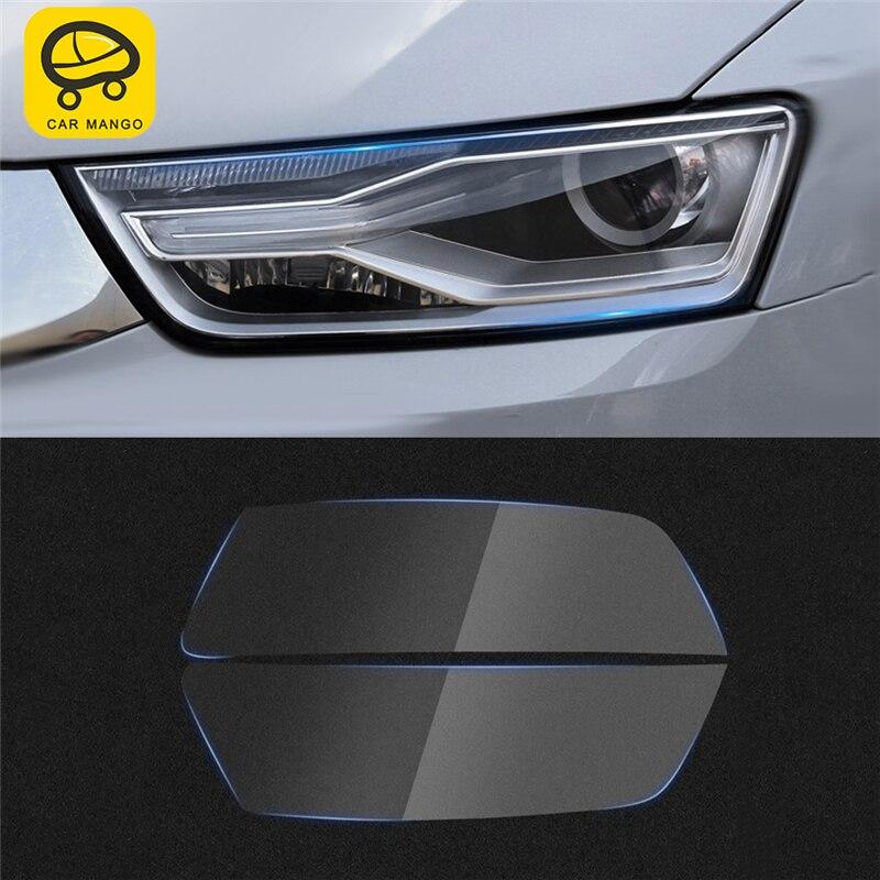 Voiture MANGO voiture style avant lumière lampe phare couverture garniture Film autocollant accessoires extérieurs pour Audi Q3 2016 2017 2018