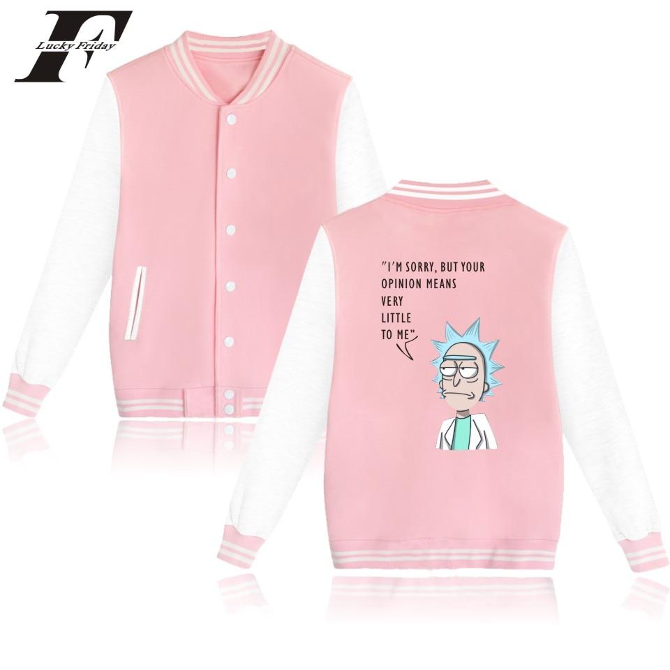 LUCKYFRIDAYF Rick And Morty font b Jacket b font Sweatshirt Winter Better Cotton Baseball font b