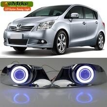 EeMrke для Toyota Verso Sportsvan COB светодиодный Ангел глаз Противотуманные фары DRL дневные ходовые огни галогенные лампы H11 55 Вт покрытие