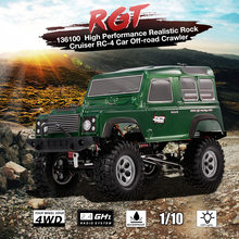 RGT RC Car 136100 10Km/h 1:10 2.4GHz 4WD Waterproof Realistic Rock Cruiser RC-4 Car Off-road Crawler Toys for Children RTC(China)