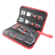5pcs Car Panel Removal Tools Kit Prying Rubber Hardened Steel For Buckle Decorative Strip Audio Installer Kits