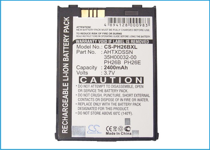 Cameron Sino High Quality 2400mAh Battery for Audiovox PPC-6600, PPC-6601, VX6600, For Daxian Telecom CU928,For E-Plus PDA III