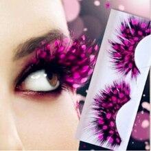 Halloween Makeup 1 pairs False eyelashes feather exaggeration ballet masquerade / party feather eyelashes special art school