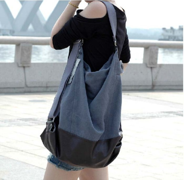 a5be8c6f8f77 Woman Bags 2015 Women s Handbags Big Size Crossbody Bags For Women Famous  Brands Black Coffee Large Canvas Shoulder Bag W158
