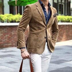 Gamuza Chaqueta hombres Slim Fit 2 botón hombres 2019 Otoño e Invierno Chaqueta Hombre Formal Blazer con estilo para Hombre Xadrez Masculino 4xl