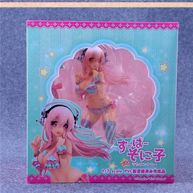 1pc/lot FURYU SONICO Action Figure Super Sonico Swimsuit Ver.Sexy PVC Anime Figures Toys Bikini Sexy Girl With Retail Box 18cm super sonico supersonico movable figma pvc action figure collectible model toy gift for boy 15 17cm swimsuit sexy girl wx157