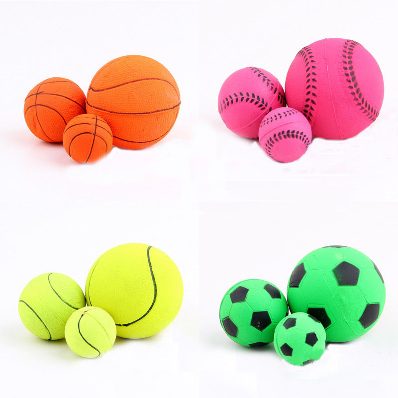 100pcs/lot New Natural Non-toxic Rubber Pet Dog Fun Playing Ball Toy Cute Puppy Outdoor Pick Up Fetch Training Toys WA1279