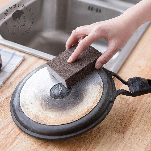 1 PC Spugna Lavaggio Pan Sfregamento Smeriglio Magia Pulire Pulito Cucina di Cas