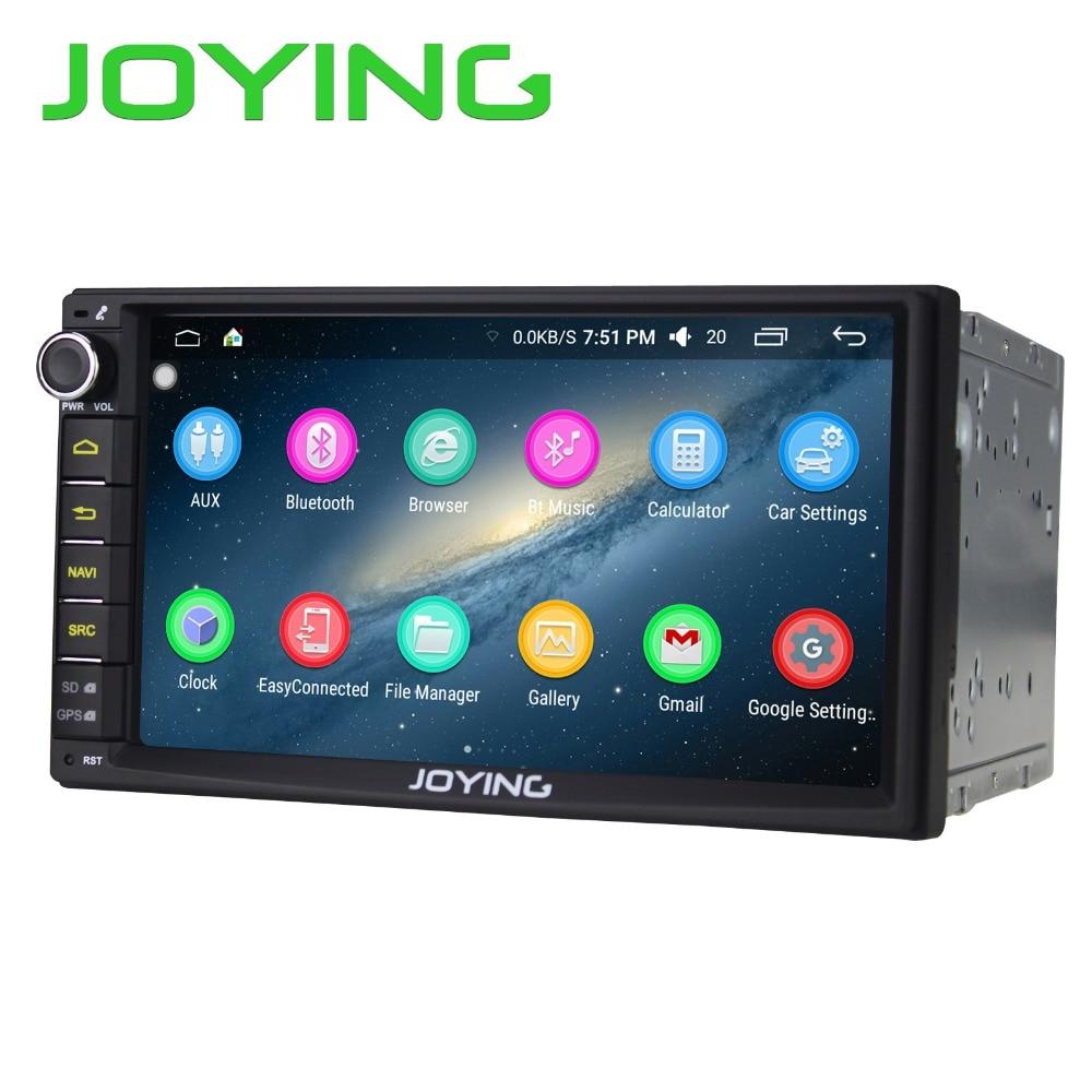 Joying 7 2 Din UniversalAndroid 6.0 Voiture Radio Stéréo Quad Core Volant de Soutien GPS Navigation Lecteur de Musique Tête Unité