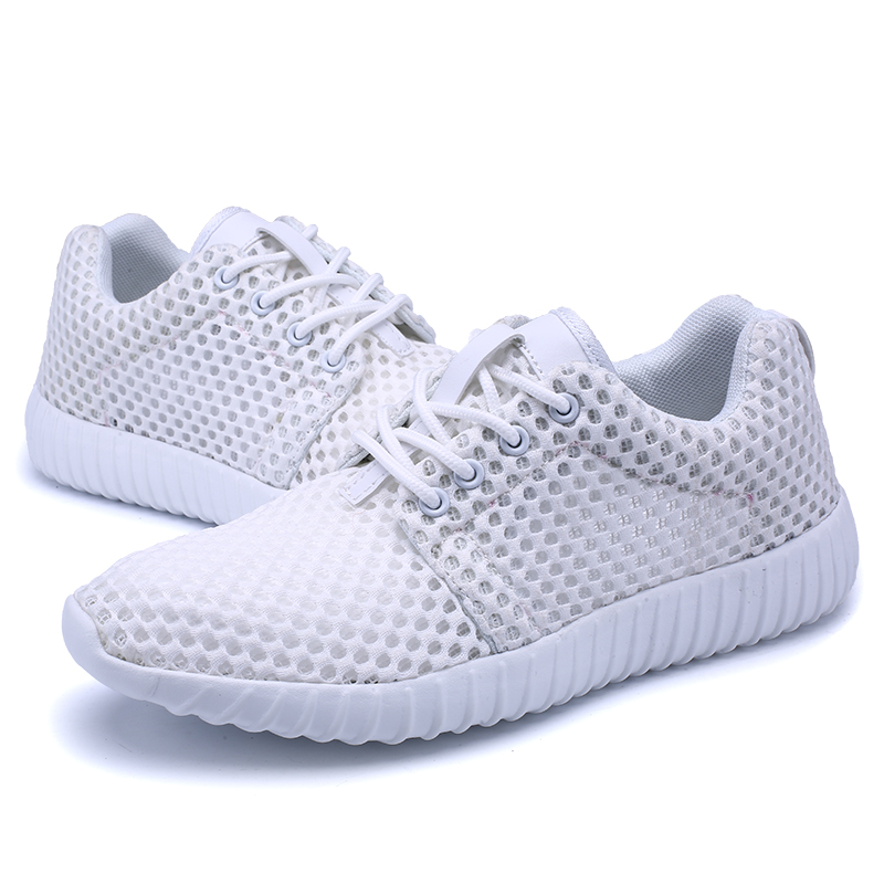 Breathable Running Shoes for Women Air Mesh Men Sneakers Light Sport Shoes Gym Shoes Black White Couple Cheap Walking Footwear