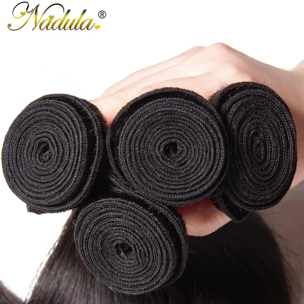 NADULA Hair 3 / 4pcs / Lot მალაიზიური - ადამიანის თმის (შავი) - ფოტო 4