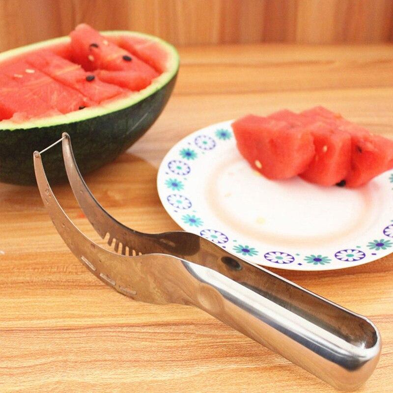 HIKUUI Cocina Herramientas Cortador de Melón Sandía Scoop Servidor Slicer Corer