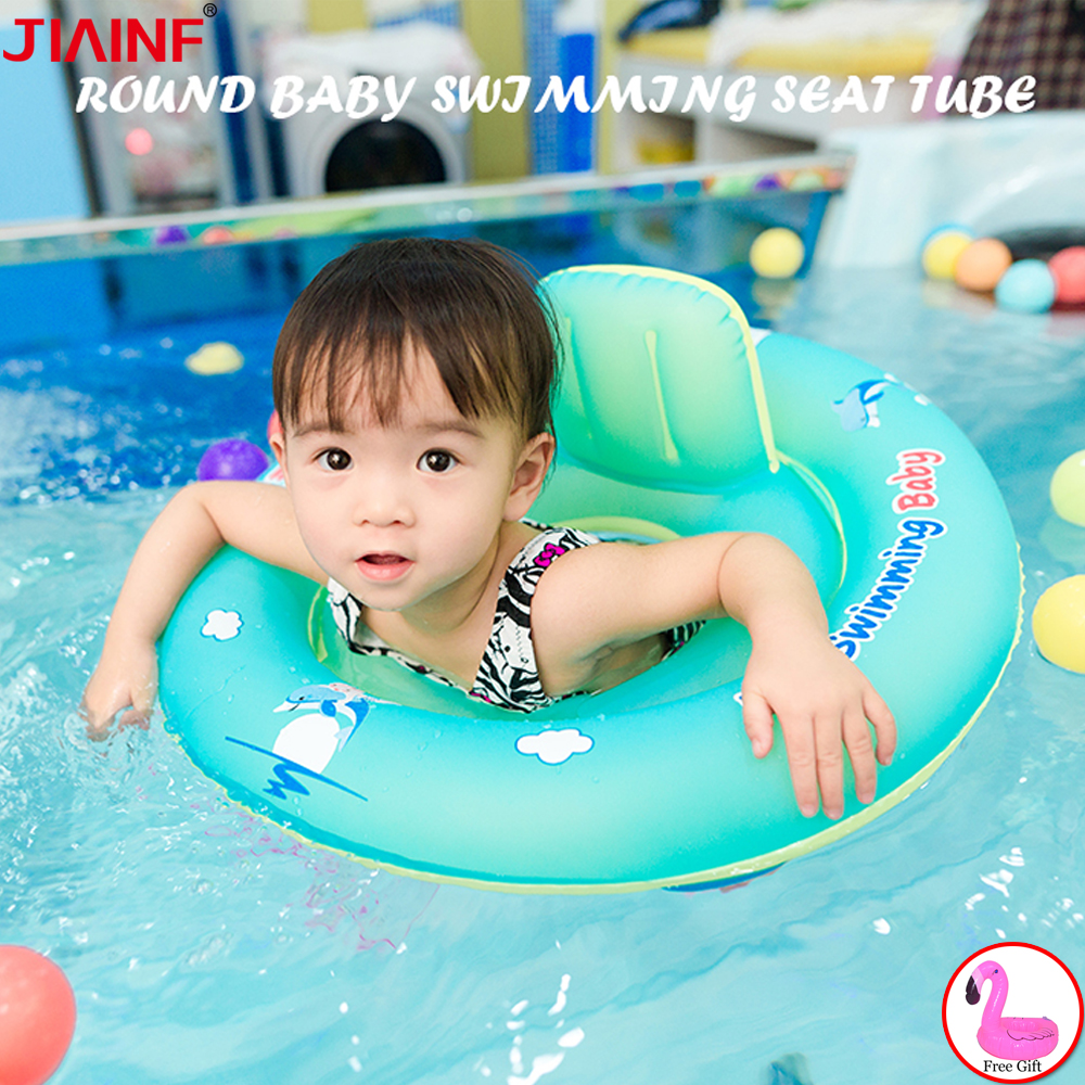 Baby Seat Swimming Ring Inflatable Infant Swimming Pool Floating Kids Accessories Bathing Inflatable Double Raft Rings Toy