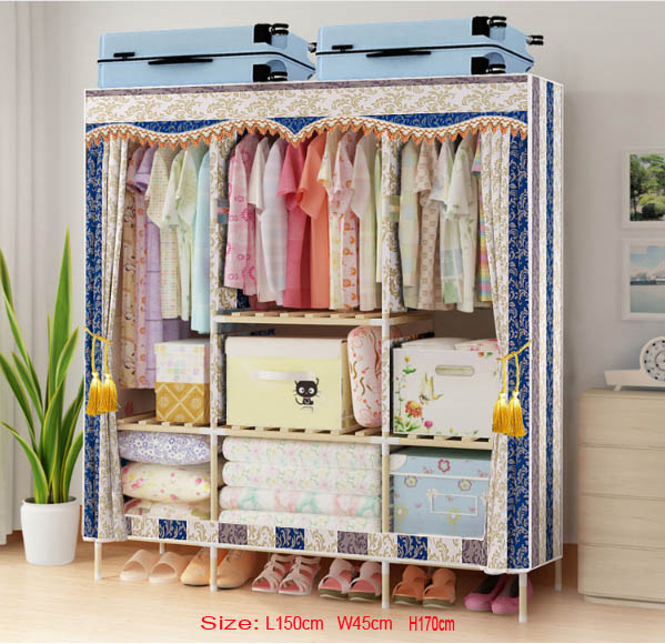 Factory Price Solid Wood Wardrobe  length 150 cmFactory Price Solid Wood Wardrobe  length 150 cm
