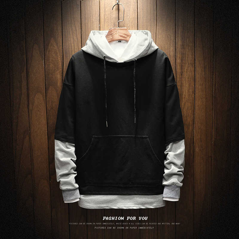 Spring New Hoodies Men Fashion Fresh Campus Style Solid Color Loose Wild Hooded Pullover Man Streetwear Sweatshirt Male Clothes
