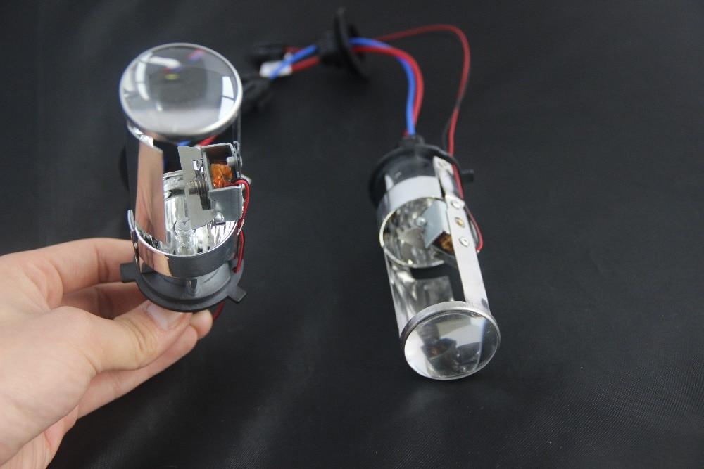 New 2017 MINI HID xenon BI XENON PROJECTOR LENS KIT H4 car Headlight Lens no need open light house EASY INSTALL-in Headlight Bulbs from Automobiles ...