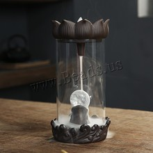 Creative Home Decor Pavilion Smoke Waterfall Backflow Incense Burner Ceramic Incense Holder Censer Use In Home Office Teahouse creative fly dragon incense burner bunker smoke waterfall incense burner incense cone sticks holder use in home office teahouse