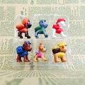ATOY 6 pçs/lote Patrulha Brinquedos Anime Figura de Ação Filme Juguetes Bonito do Filhote de Cachorro Do Cão set Brinquedos Para O Presente da Criança Para crianças