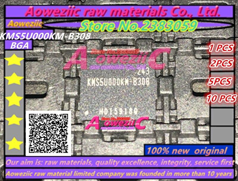 Aoweziic (1 PZ) (2 PZ) (5 PZ) (10 PZ) 100% Nuovo originale KMS5U000KM-B308 BGA chip di memoria KMS5U000KM B308